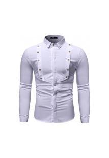 Camisa Social Masculina Slim - Branca