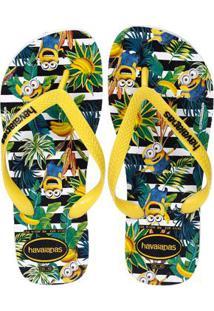 Chinelo Masculino Havaianas Minions Branco/Amarelo