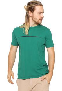 Camiseta Calvin Klein Jeans Reta Verde