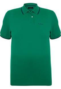 Polo Plus Size Piquet Classic Verde