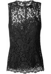 Dolce & Gabbana Regata Com Renda - Preto