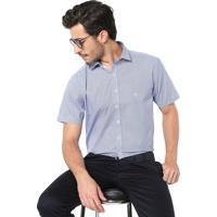 Camisa Dudalina Reta Geométrica Azul d5b1c117289cb