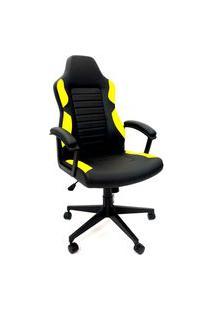 Cadeira Office Byartdesign Gamer Preto E Amarelo