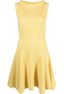 Alexander Mcqueen Vestido De Tricô - Amarelo