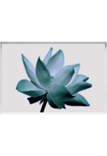 Quadro Decorativo Flor - Branco & Azul - 40X60Cmarte Prã³Pria