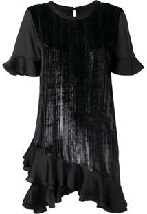Three Floor Vestido Veruschka Metalizado - Preto