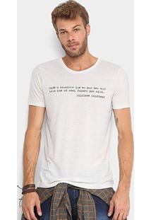 Camiseta Flamê Handbook Estampada Frase Folclore Masculina - Masculino