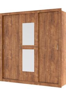 Guarda-Roupa Vivacce Com Espelho - 3 Portas - Native