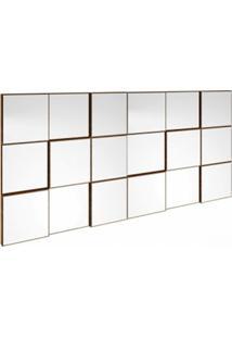 Painel Decorativo Quadriculado Espelhado Tb88 Dalla Costa Nobre