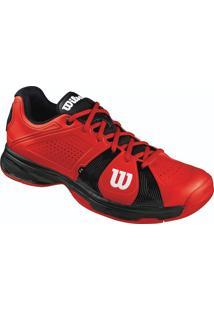 Tênis Rush Sport Masculino Vermelho/Preto 42 - Wilson