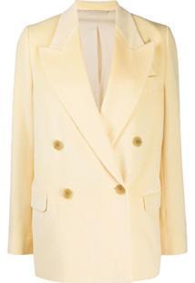 Acne Studios Blazer Com Abotoamento Duplo De Veludo Cotelê - Amarelo