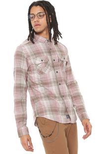 Camisa John John Reta Dylan Rosa/Cinza