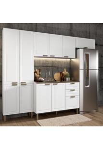 Cozinha Completa 4 Peças Americana Multimóveis 5683 Branco