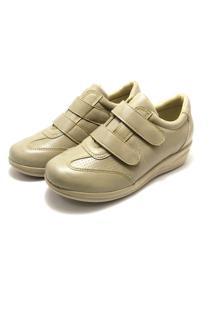 Sapato Sandiee Conforto Creme