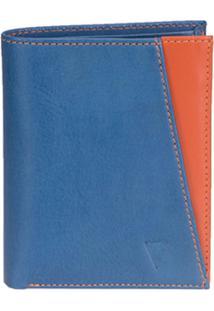 Carteira Vbrüm Montevidéu Azul E Laranja