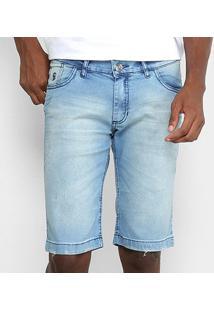 Bermuda Jeans Preston Elastano Destroyed Masculina - Masculino