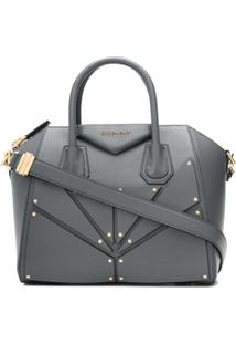 Givenchy Small Antigona Bag In Patch Leather - Cinza