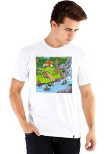 Camiseta Ouroboros Manga Curta Vila Dos Insetos - Masculino-Branco