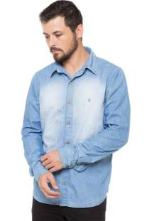 Camisa Osmoze Manga Longa - Masculino-Azul