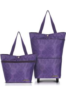 Bolsa Expansível Com Carrinho Jacki Design Essencial Ii Roxo - Kanui