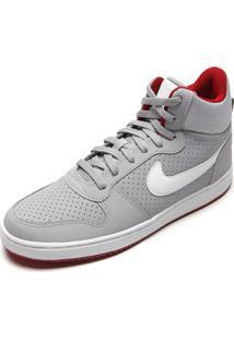 Tênis Nike Sportswear Court Borough Mid Cinza/Branco
