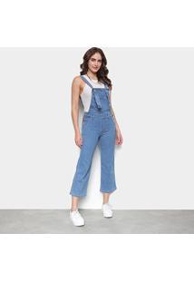 Macacão Jeans Biotipo Pantacourt Feminino - Feminino-Azul Claro