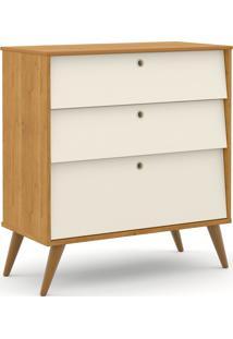 Gaveteiro Gold Freijó/Off White/Eco Wood Matic Móveis
