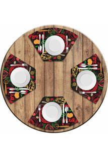 Jogo Americano Love Decor Para Mesa Redonda Wevans Pizza Kit Com 4 Pçs - Kanui