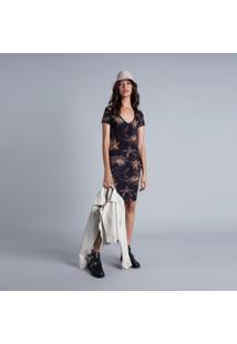 Vestido Decote V Estampa Isla Vista - Lez A Lez