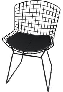Cadeira Bertoia Pintada Preto Assento Preto - 18850 Sun House