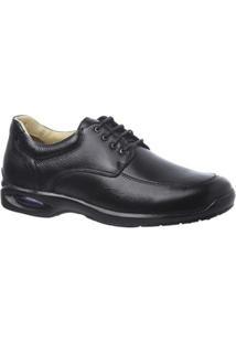 Sapato Casual Couro Floater Doctor Shoes Masculino - Masculino-Preto