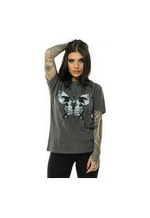 Camiseta Bossa Brasil Butterfly Preto Estonado