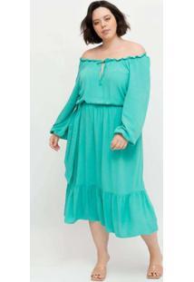 Vestido Midi Almaria Plus Size Pianeta Ombro A Omb