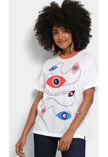 Camiseta Cantão Estampa Verbo Amar Feminina - Feminino-Off White