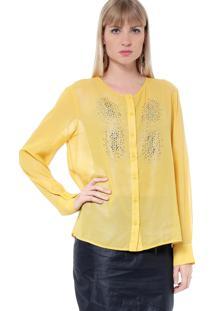 Camisa Energia Fashion Com Termocolantes Amarelo