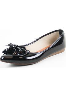 Sapatilha Tag Shoes Verniz Preta - Kanui