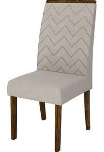 Cadeira Áurea 2 Peças - Rústico Malbec Com Pena Bege