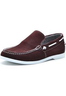 Mocassim Casual Sapatotop Shoes Tamanho Grande Bordo