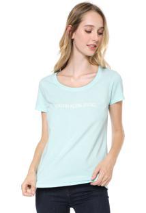 Blusa Calvin Klein Jeans Logo Azul