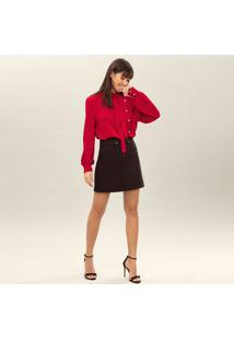 Blusa Com Vazados & Botãµes- Vermelha- Lez A Lezlez A Lez