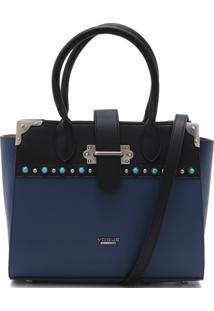 Bolsa Vogue Pedraria Azul