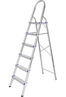 Escada De Alumínio Dobrável 6 Degraus Premium Integral