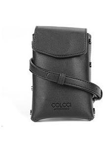 Bolsa Colcci Handbag Argola Feminina - Feminino-Preto