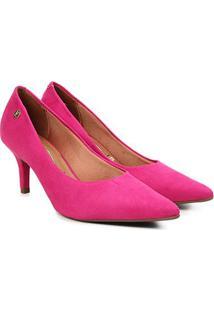 Scarpin Vizzano Salto Baixo Bico Fino Feminino - Feminino-Pink