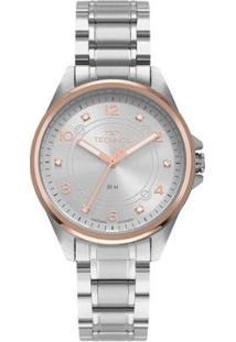 Relógio Technos Elegance Boutique 2035Mrp/1K Feminino - Feminino-Prata