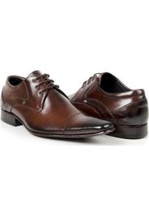 Sapato Social Couro Bigioni Masculino - Masculino-Marrom