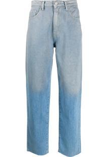 Pinko Calça Jeans Boyfriend Destroyed - Azul