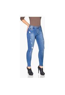 Calça Jeans Rock Show Skinny Azul