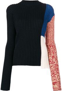 Calvin Klein 205W39Nyc Suéter Canelado Decote Arredondado - Preto