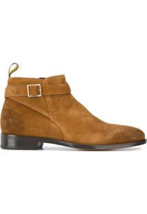 Doucal'S Ankle Boot Com Detalhe De Fivela - Marrom